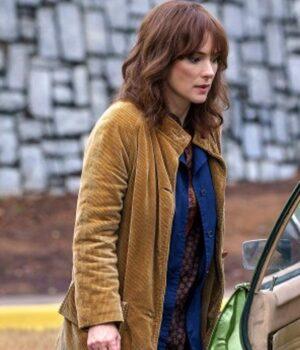 TV Series Stranger Things Winona Ryder Brown Coat