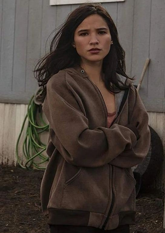 Monica Dutton TV Series Yellowstone Hooded Brown Jacket