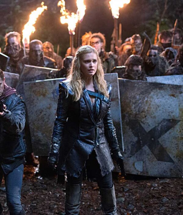 Eliza Taylor The 100 Black Coat