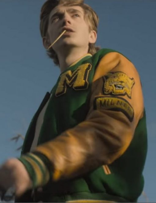 Austin Abrams Yellow and Green Jacket