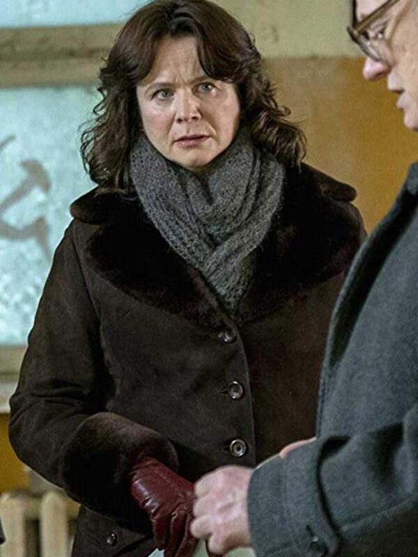 Emily Watson Chernobyl Black Coat