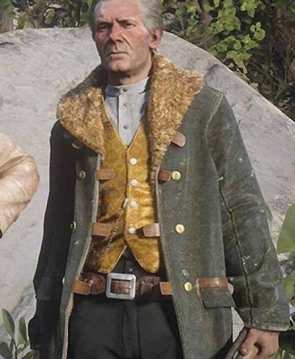 Red Dead Redemption 2 Hosea Matthews Leather Coat
