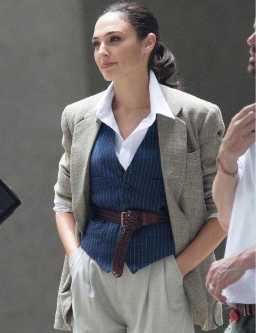 Wonder Woman 1984 Gal Gadot Cotton Grey Blazer
