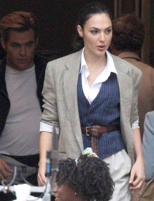 Wonder Woman Gal Gadot Grey Blazer Jacket