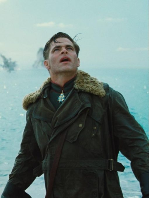 Wonder Woman Chris Pine Cotton Brown Coat