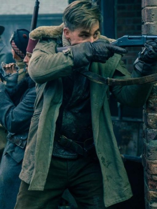 Wonder Woman Chris Pine Cotton Brown Shearling Coat