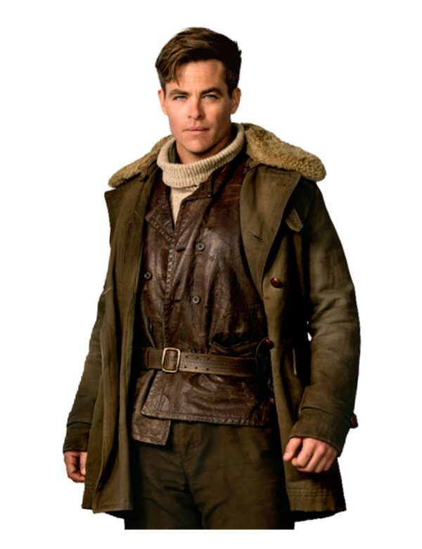 Wonder Woman Chrish Pine Cotton Coat