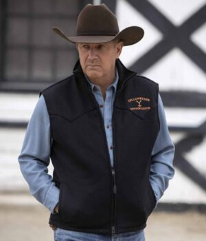 John Dutton Yellowstone Black Vest