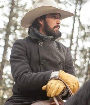Yellowstone TV Series Ryan Bingham Grey Pea Coat