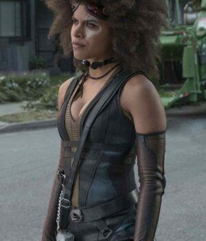 Deadpool 2 Zazie Beetz Black Vest