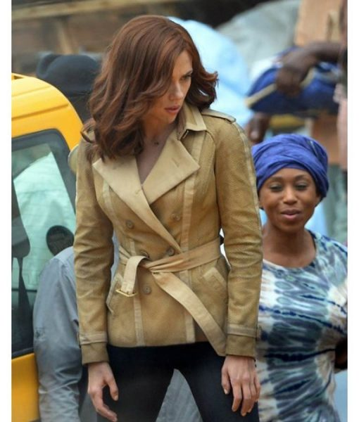 Scarlett Johansson Civil War Black Widow Jacket