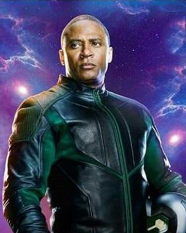 Crisis on Infinite Earths David Ramsey Black Leather Jacket