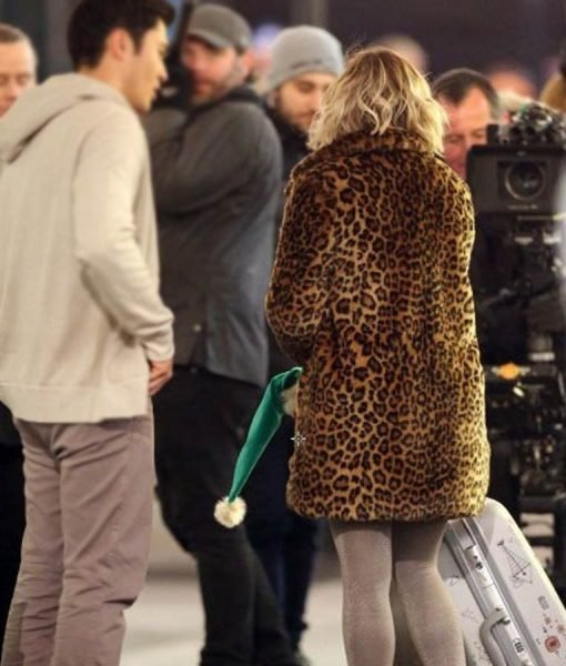 Emilia Clarke Leopard Coat