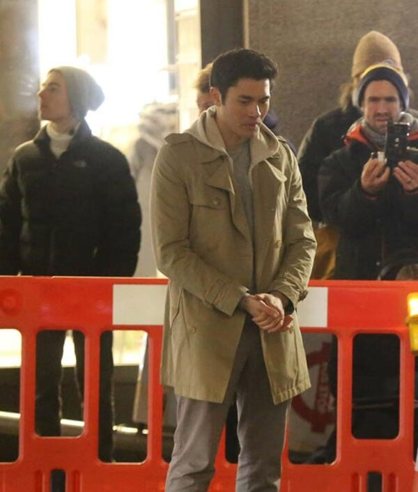 Last Christmas Henry Golding Brown Cotton Trench Coat
