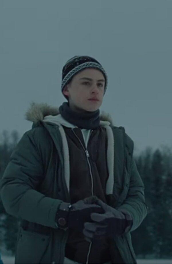 Jaeden Martell Fur Collar Hooded Jacket