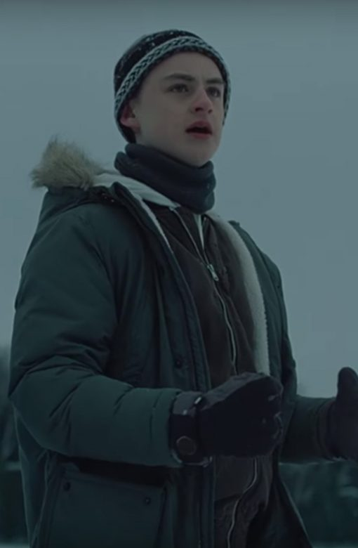 Jaeden Martell Cotton Fur Collar Hooded Jacket