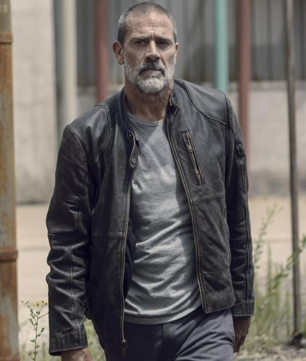 Jeffrey Dean Morgan Black Leather Jacket