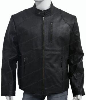 The Walking Dead Season 9 Negan Black Jacket Zipped