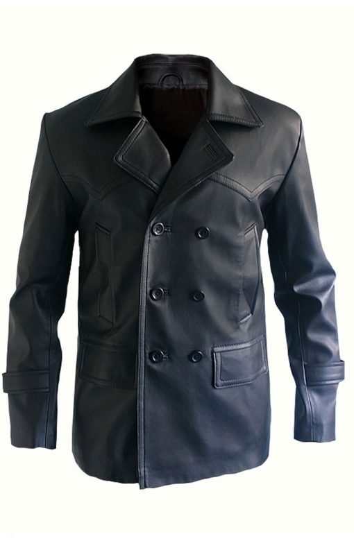 9th Doctor Who Christopher Eccleston Leather Black Jacket