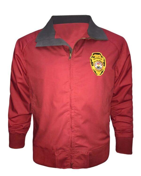 David Hasselhoff Cotton Red Jacket