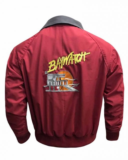 David Hasselhoff Red Bomber Jacket
