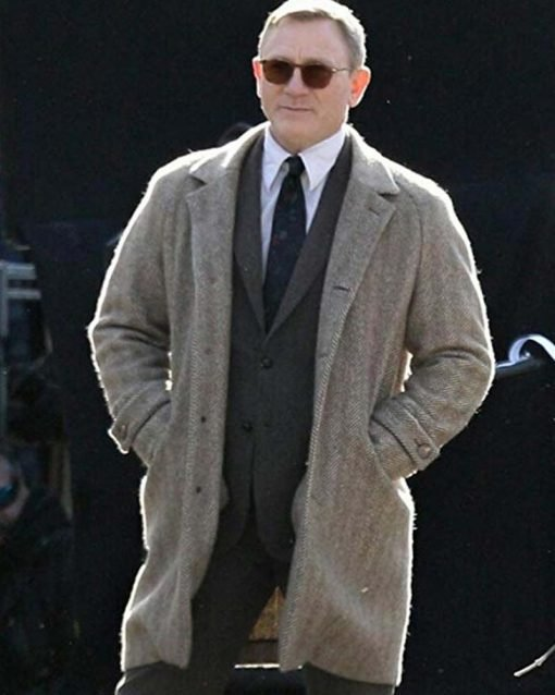 Daniel Craig Grey Coat
