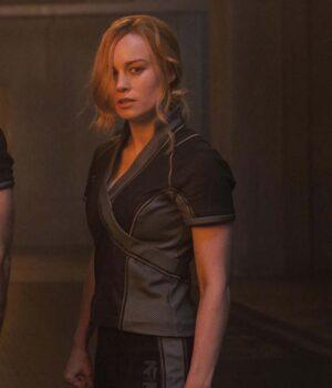 Brie Larson Carol Danvers Grey Jacket