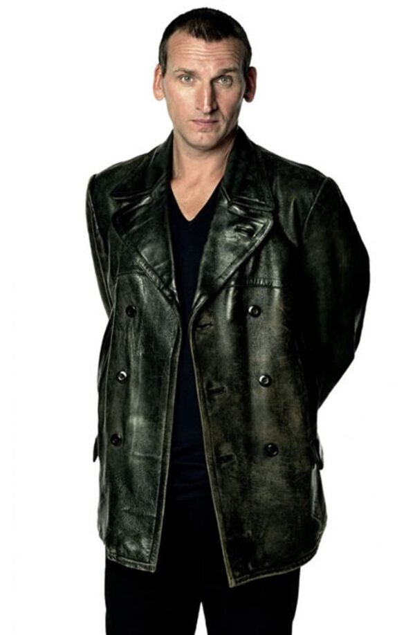 Christopher Eccleston Doctor Who Black Leather Jacket