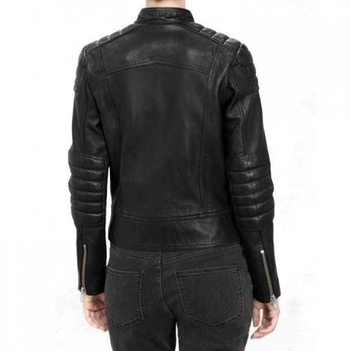 Jenna Coleman Black Leather Jacket
