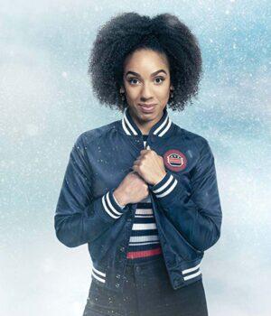 Doctor Who Pearl Mackie Varsity Denim Jacket