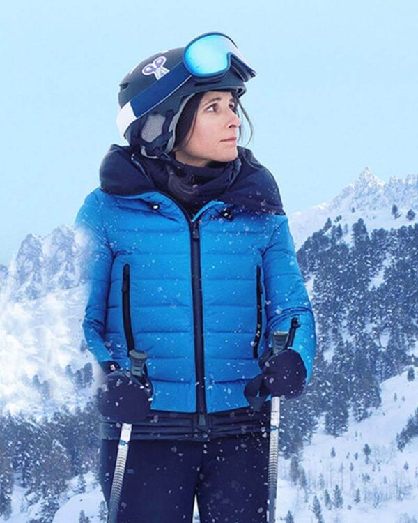 Downhill Julia Louis-Dreyfus Parachute Blue Puffer Jacket