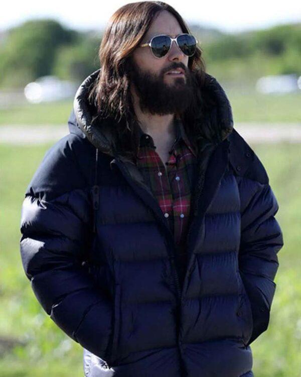 Jared Leto Puffer Blue Jacket