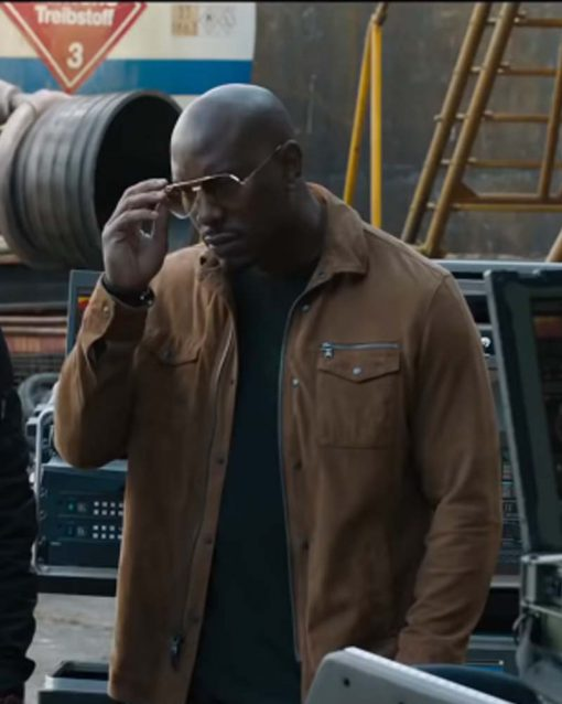Tyrese Gibson Cotton Brown Jacket