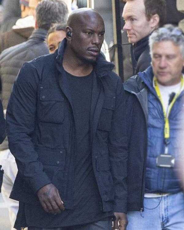 Tyrese Gibson Black Cotton Jacket