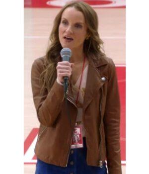 Kate Reinders Brown Biker Jacket