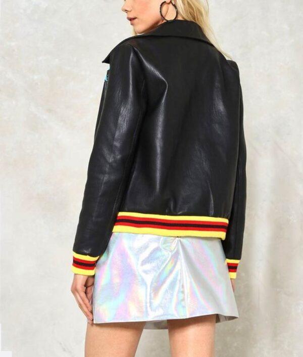 High School Musical Olivia Rodrigo Black Bomber Jacket