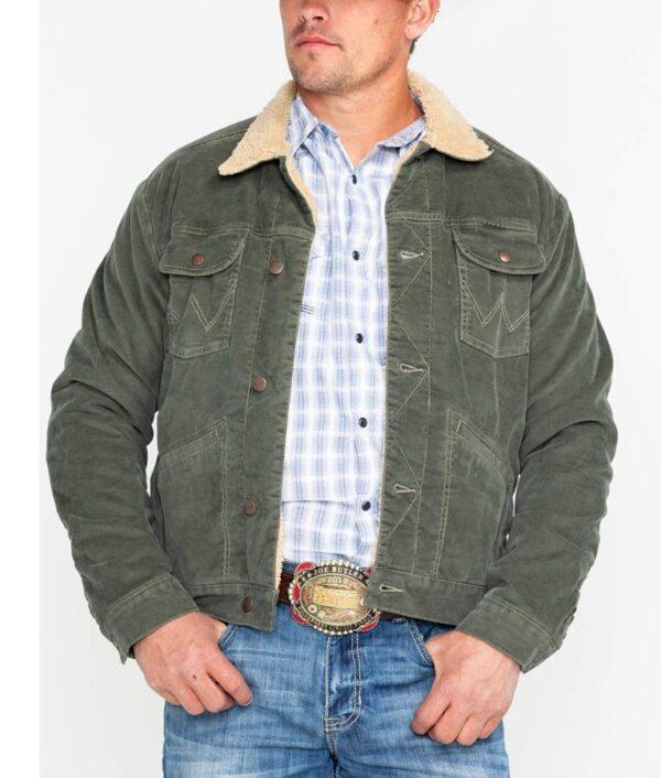 High School Musical Joshua Bassett Green Sherpa Cotton Jacket