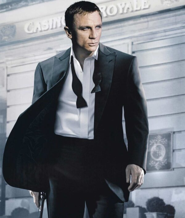 James Bond Casino Royale Dinner Tuxedo Black Suit