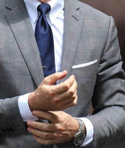 Daniel Craig Grey Blazer Suit