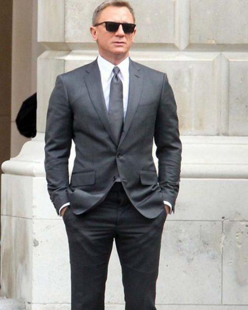 Daniel Craig Grey Pinstripe Suit