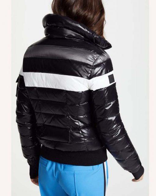 Amanda Zhou Black Bomber Jacket