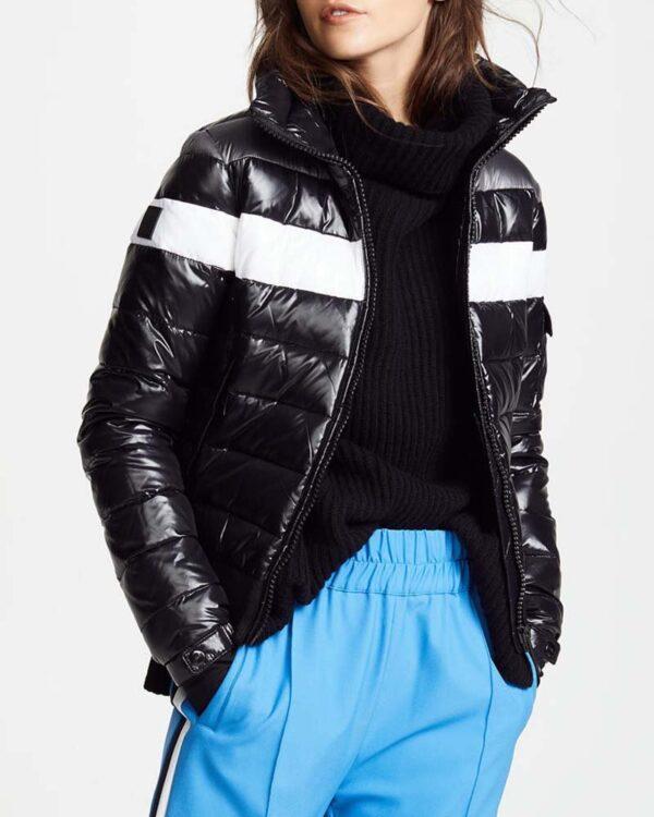 Amanda Zhou Bomber Black Jacket