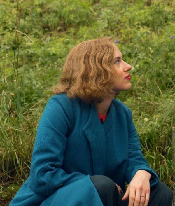 JoJo Rabbit Scarlett Johansson Blue Trench Long Coat