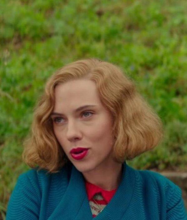JoJo Rabbit Scarlett Johansson Blue Wool Coat