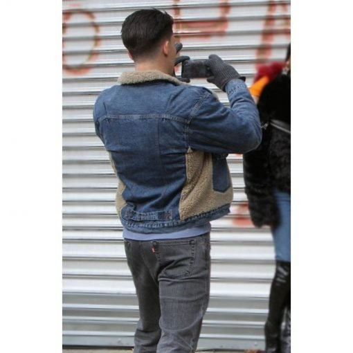 Zane Holtz Blue Shearling Jacket