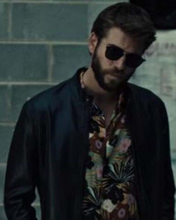 Liam Hemsworth Black Leather Jacket