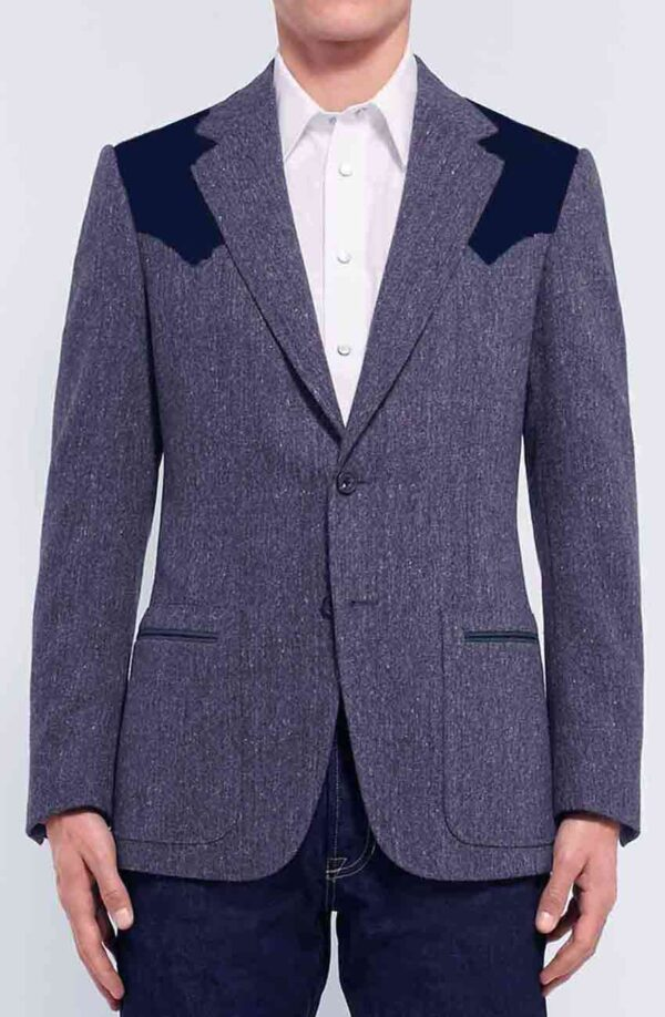 Kingsman Pedro Pascal Grey Wool Jacket
