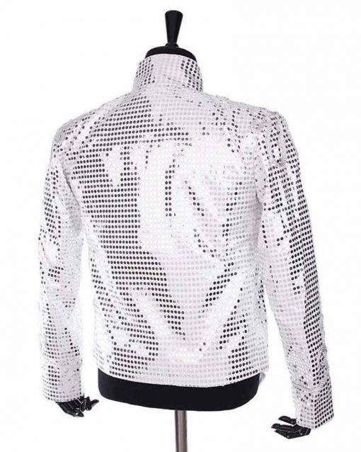 Michael Jackson History Tour Sequin White Cotton Jacket