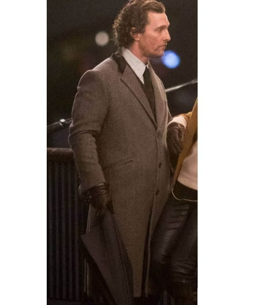 Matthew McConaughey Wool Grey Coat