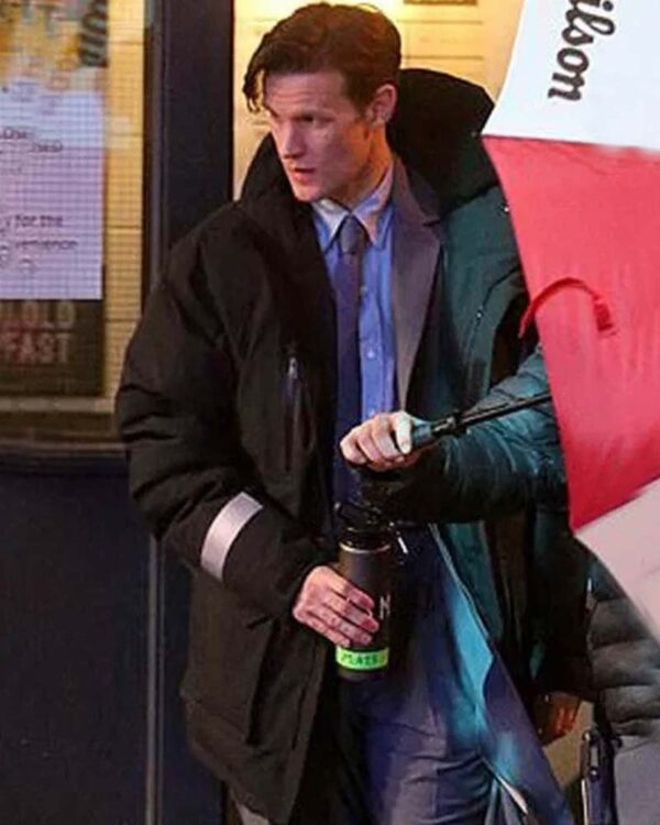 Matt Smith Black Coat with hood